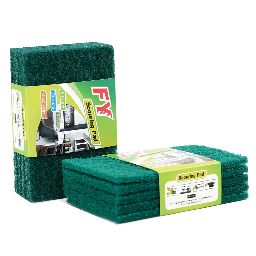 Green Scouring Pad cleaning scourer for Household Cleaning