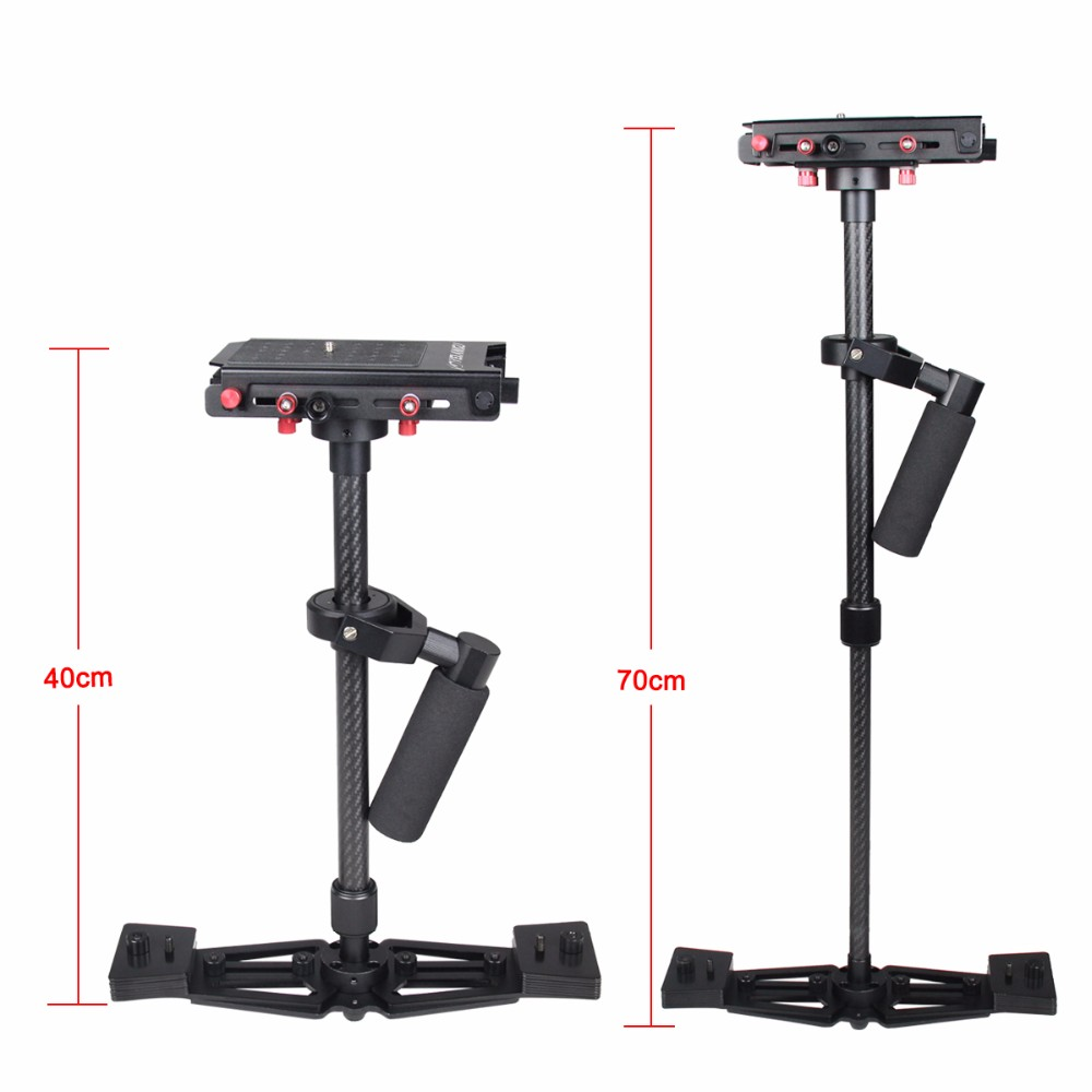 Top Sell YELANGU S700 Black Carbon Fiber DSLR Stabilizer High Cost-effective Portable Handheld video Camera DV Stabilizer
