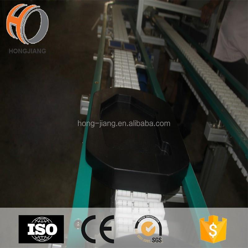 Roller Flexible Fixture Pallet Conveyor حركة سريعة للبضائع المنقولة