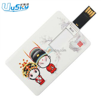 cheap plastic credit card usb 1gb 2g 4gb 8gb 16gb 32gb 64gb with full color printing logo
