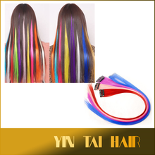 "20"" 6g Colorful Clip in Hair Extensions Highlight Colored Hair Clip on Synthetic Hair for Party & Daily Clip on Hairpieces"