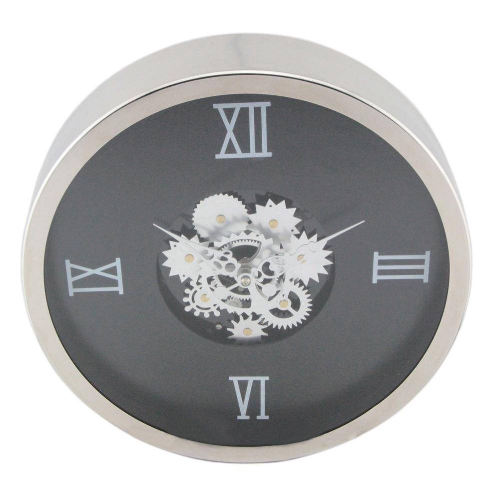 New Fashion Lotus Shape Creative Glass Gear Wall Clock
