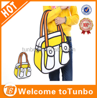 best selling products 2016 in usa tote bag 3d oxford handbag yellow