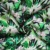 High quality green tropical plants crepe digital floral printed rayon fabric for dress