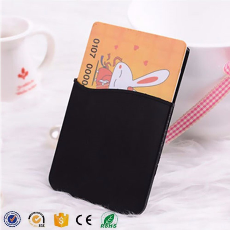 Universal stand silicone mobile phone card holder,3M sticker smart wallet mobile wallet