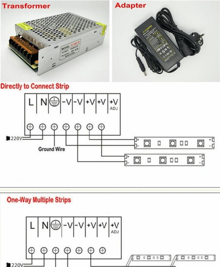 12v Led Strip 5050 Smd Led Datasheet + Ir 24key Led Controller + ...