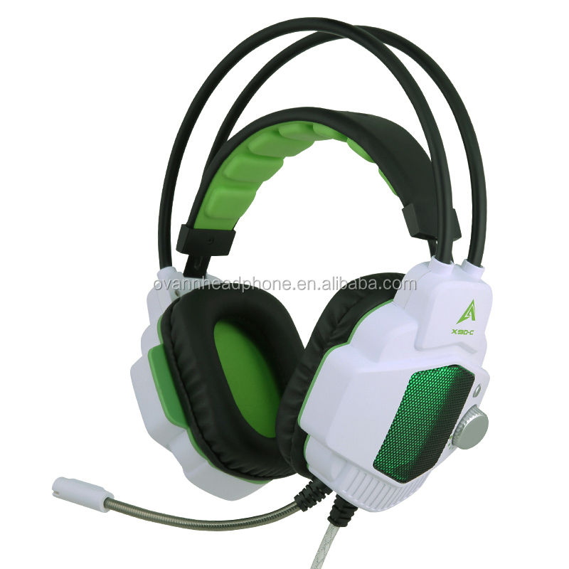 Stereo gaming headset with light, virbation, iron net - X90