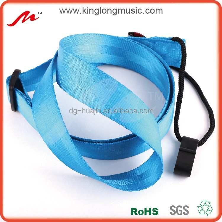 "wholesale best seller 1"" wide blue yellow orange nylon seatbelt ukulele straps for ukulele,bass,guitar"