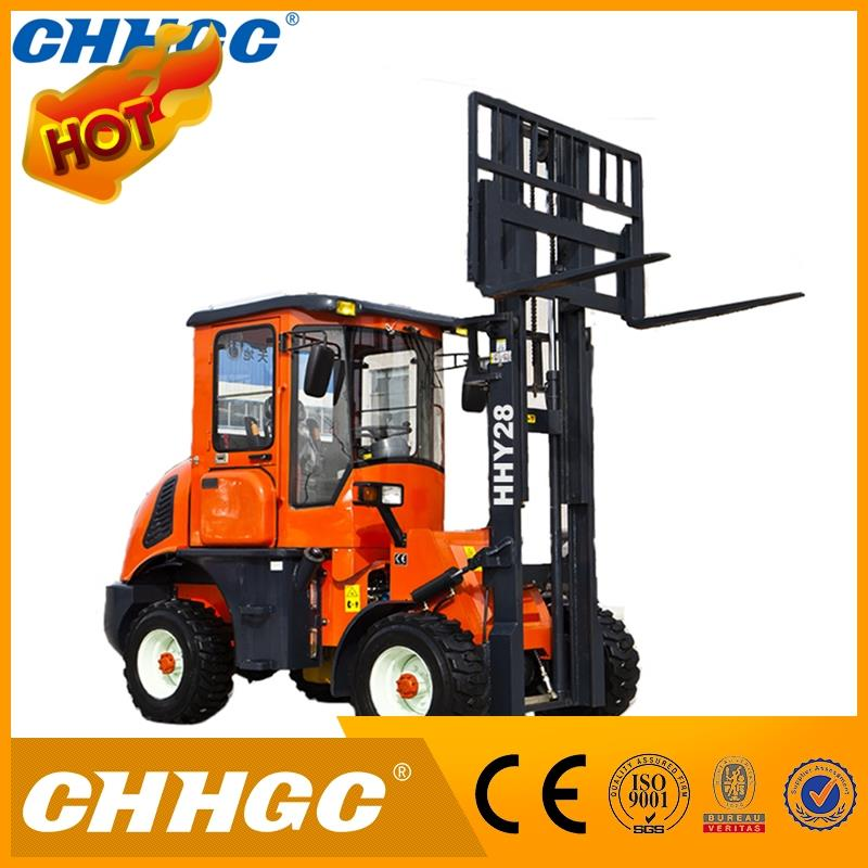 Hot sale rough terrain forklift, carretilla elevadora with CE, ISO