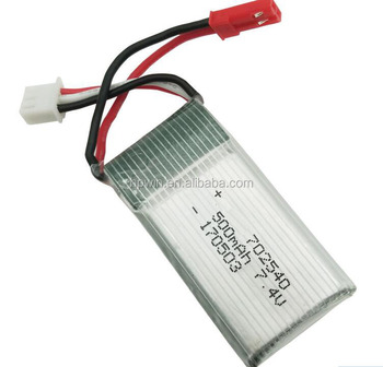 High discharge 3.7v 650mah lithium polymer battery 702540p for RC Drones