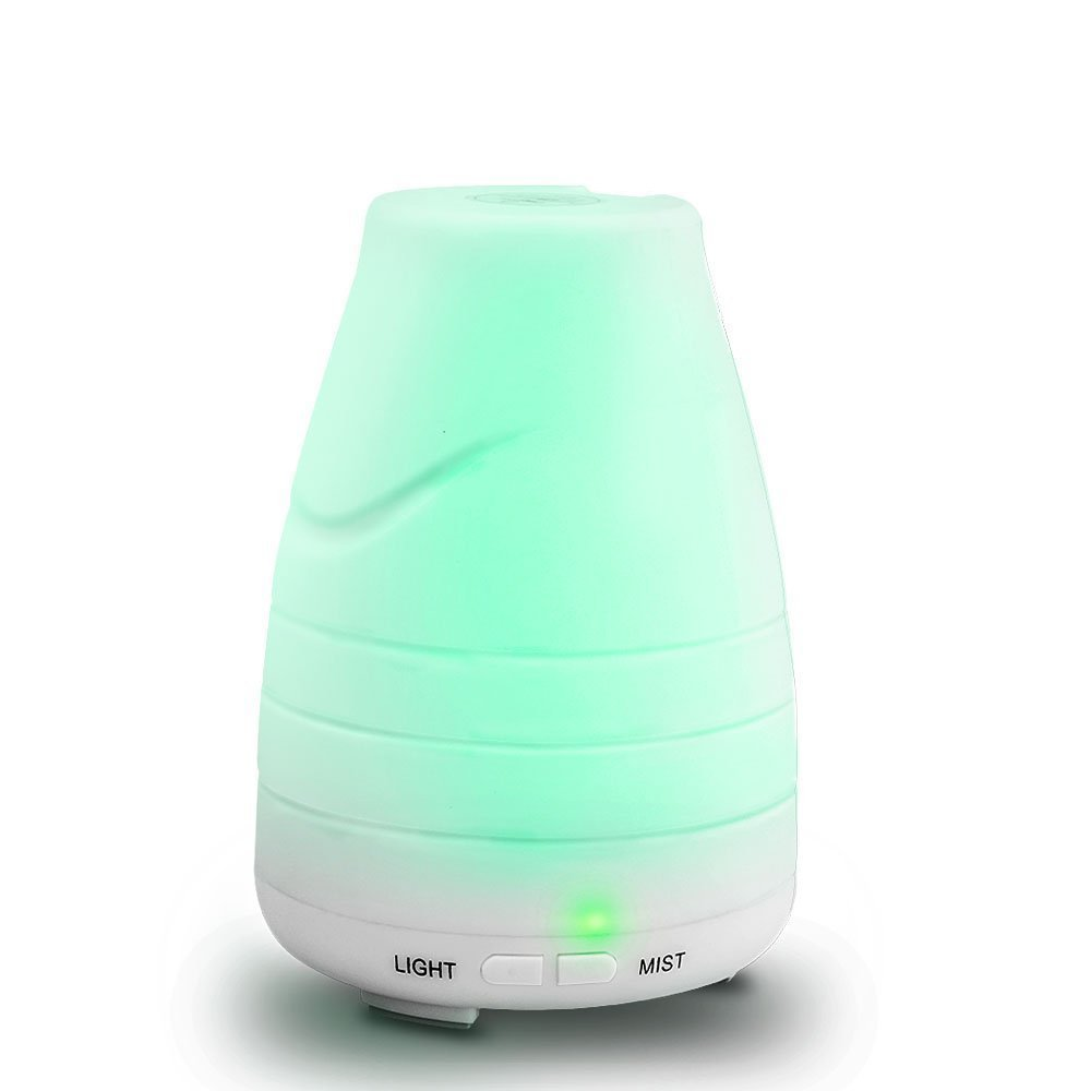 Global-store Essential Oil Diffuser Humidifier 100ml Aroma Ultrasonic Diffuser Cool Mist Humidifier for Home, Yoga, Office, Spa, Bedroom, Baby Room
