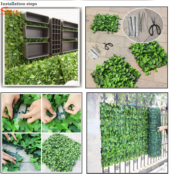 Vertical Plant Artificial Walls Plastic Green Wall Garden