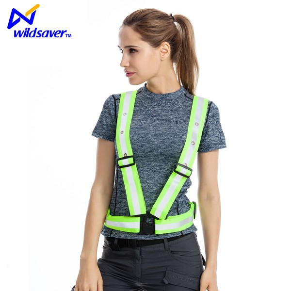 Fully illuminated USB rechargeable LED reflective belt with safety lights