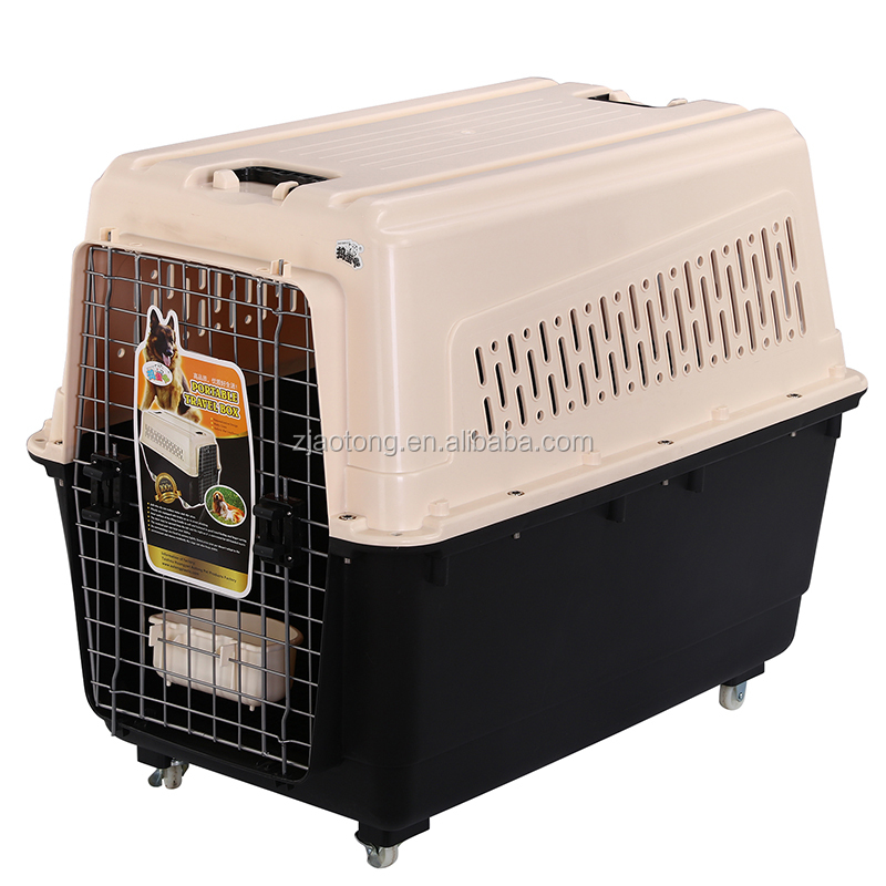 Popular Large Pet Crate Plastic Kennel Dog Travel Carrier For Pets