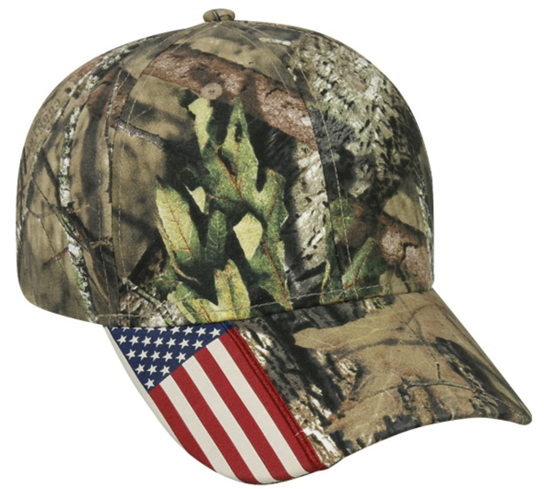 72292d0846f92 Get Quotations · Mossy Oak Country Camo American Flag Camo Hunting Hat