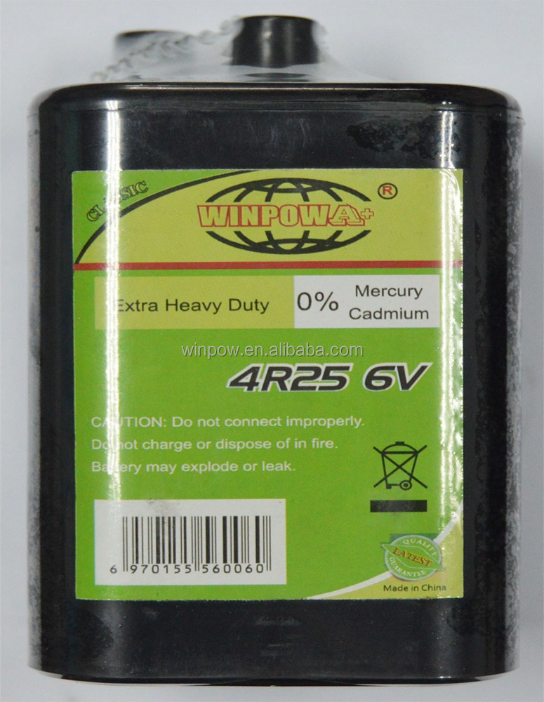 6 V 4R25 Super Heavy Duty Batterie Zinco-carbone