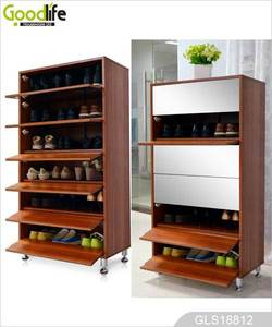 size customized glass door shoe cabinet