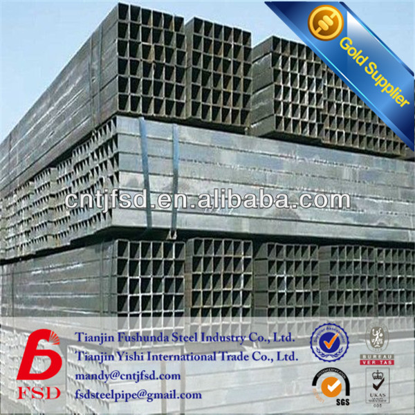 Q235carbon pre zinc plated square pipe made in china