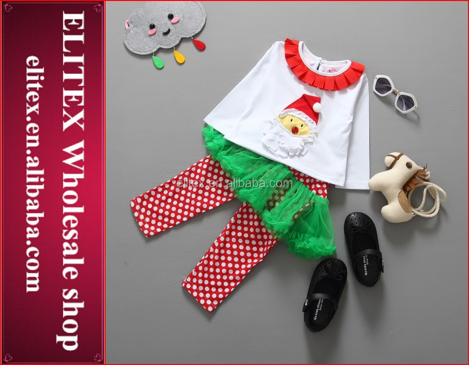 Hot Baby Girl Santa Claus Christmas Dress Kids Wearing Suit