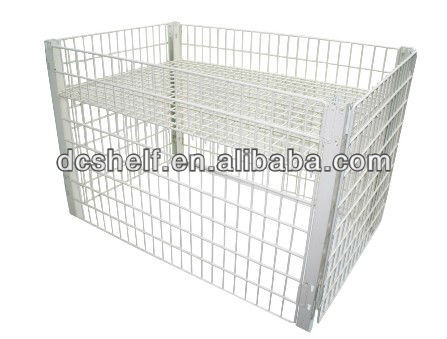 Dachang Manufacturer Powder Coated and Zinc Plated Fold able Wire Container