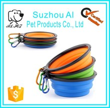 Premium Pet Food Water Travel Bowls Silicon Collapsible Dog Bowl