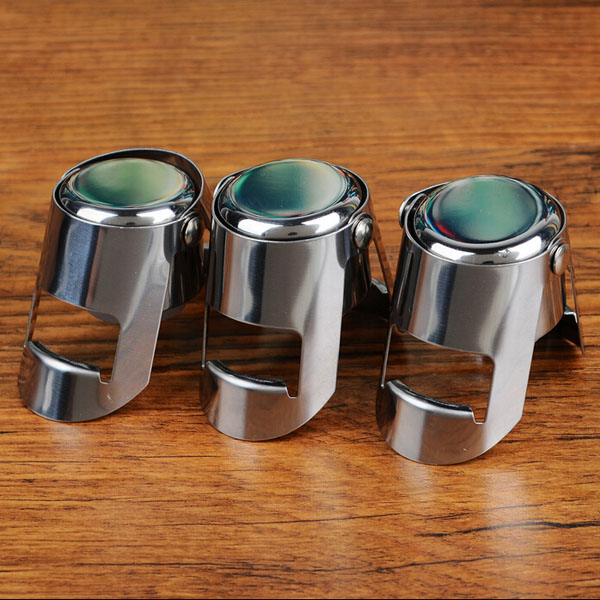 Food Grade Stainless Steel Champagne Anggur Botol Stopper