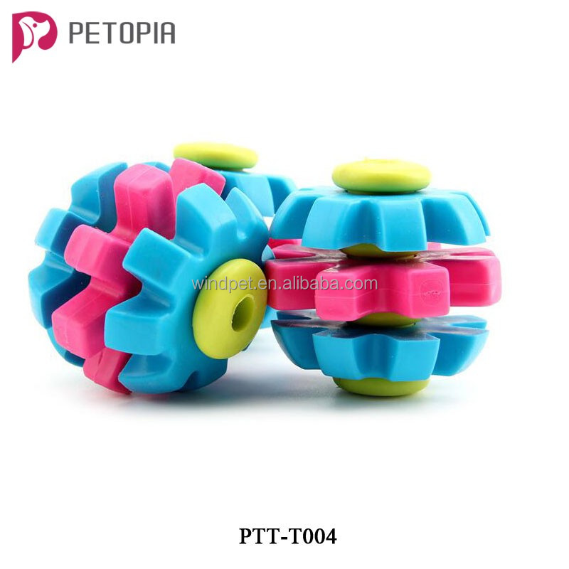 Wholesale Stock TPR Rotary Gear Dog Chew Toys