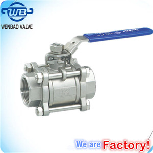3pc stainless steel ball valves high pressure 1000WOG/ 2000 WOG/ 3000 WOG /manual 1 inch ball valve