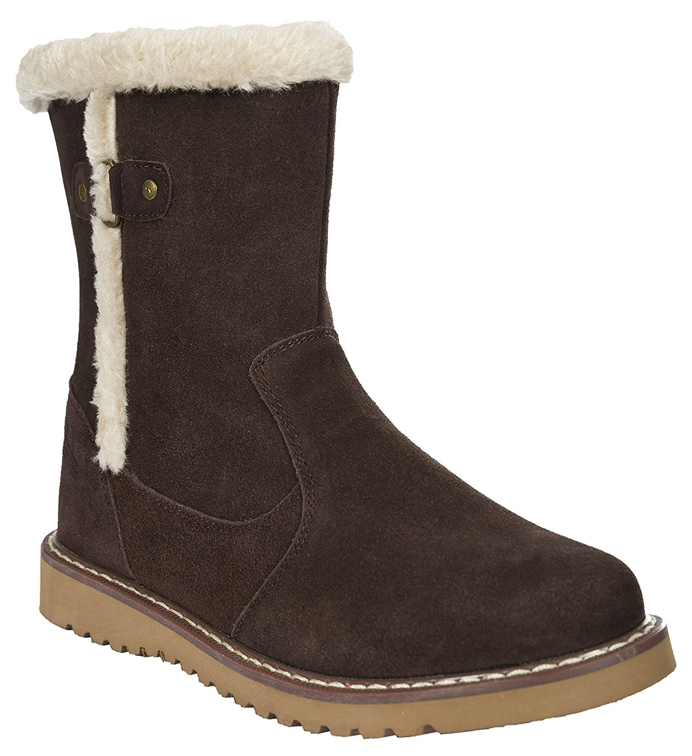 Trespass womens Trespass Womens/Ladies Lockwood Faux Fur Lined Suede Winter Snow Boots Suede