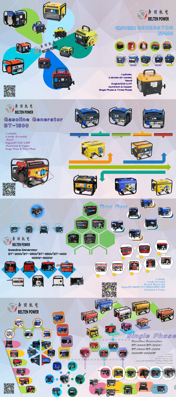 5กิโลวัตต์LPG 220โวลต์50เฮิร์ต4จังหวะOhvเครื่องกำเนิดไฟฟ้า