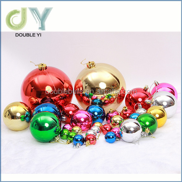 Wholesale festival party wedding IN STOCK 6mm 8mm 10mm plastic Multicolor Christmas Ball Ornaments