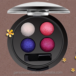 GARSON OEM/ODM private label 4 colors baked makeup eyeshadow palette with brush