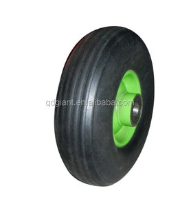 9 inch solid rubber powder wheel , trolley wheel