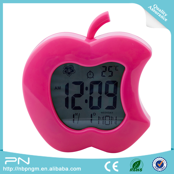Apple Shape Clock, Multi-function Fashion LED Digital Alarm Clock, Kids Digital Alarm Clocks