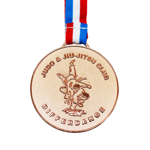 Metal Medal Making Machine Custom Brass Prize Jiu-jitsu Medal