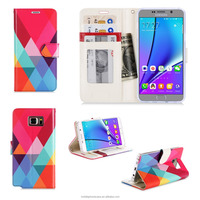 Custom Flip Stand Wallet PU Leather Phone Case For Samsung Galaxy Note 5