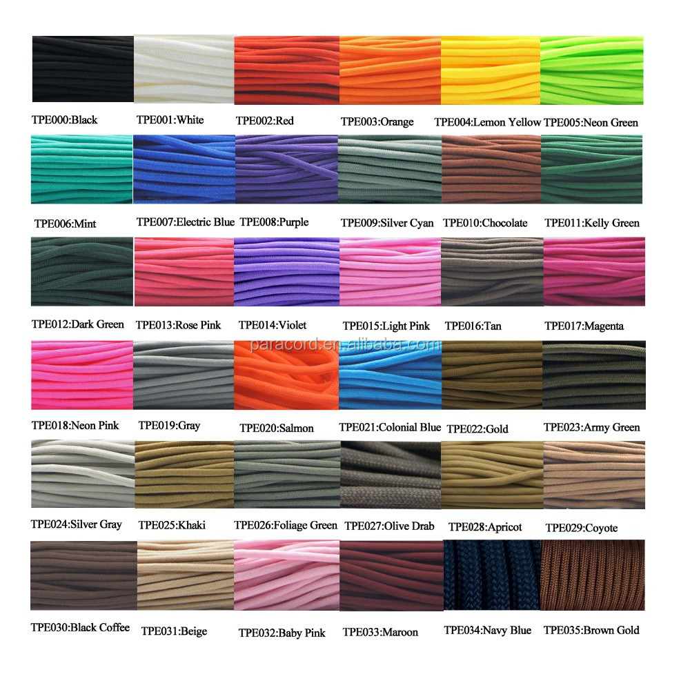 Military 550 paracord fishing line survival tinder marker strand regular color chart military 550 paracord fishing line survival tinder marker strand tactical 550 paracord for outdoor nvjuhfo Image collections
