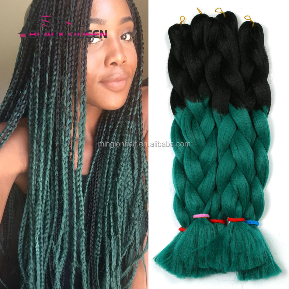 24 Inches Three Tone Ombre Colour Jumbo Braiding <strong>Hair</strong>