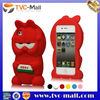 New Lovely Cute Soft Silicone Garfield 3D Case Cover for iPhone 4 4S,3D Silicon Animal Case for iPhone 4