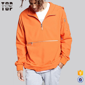 45adf80b076 Guangzhou wholesale clothing men jacket 2017 blank zip pocket nylon anorak  jacket