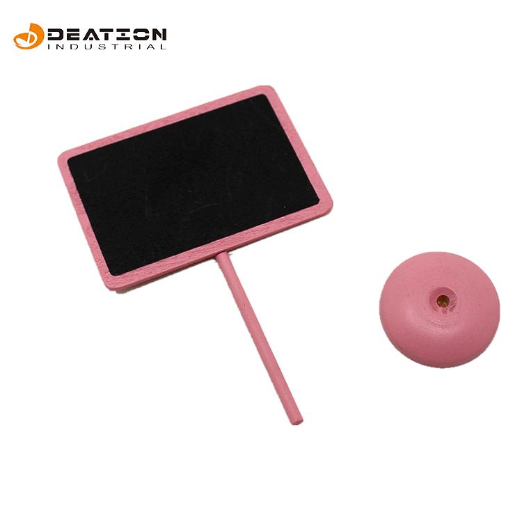 Pink 8 * 5.5cm Mini Message Sign Board mit Ständer für Kinder