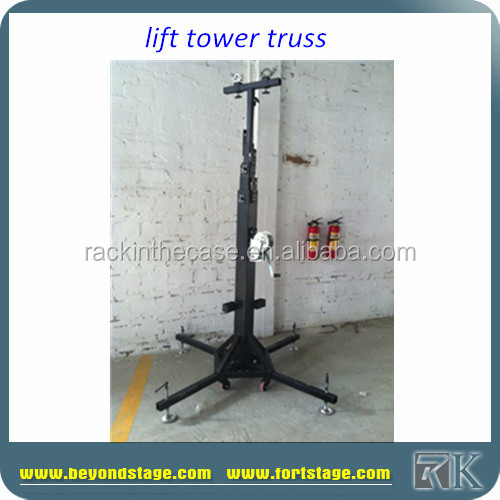 RK High Quality Telescopic Lifting Tower/High loading elevator stand trussing lift light
