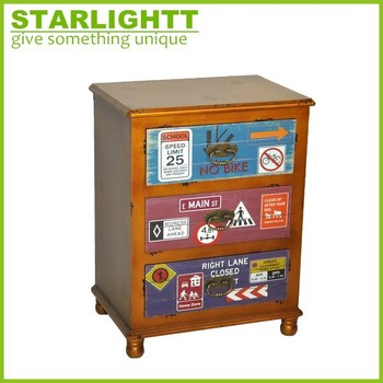 High quality handmade wood cabinet small drawer
