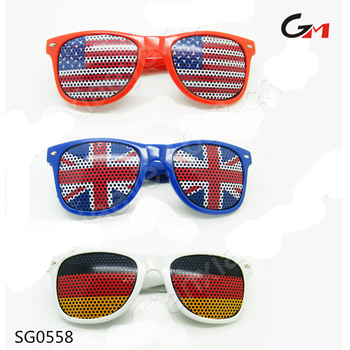 USA German spain Portugal UK countries' national flag eyewear sunglasses sun shades for football fans or national day