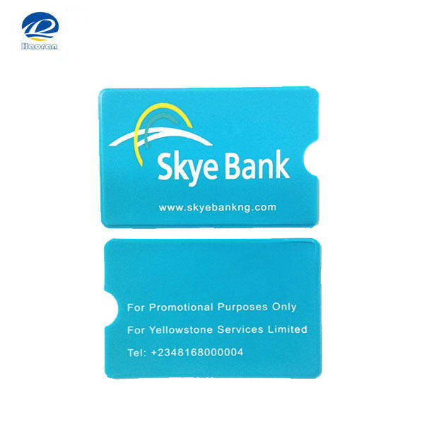 Simple design PVC plastic atm card holder