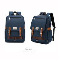 korean design pack backbag China promotional teenager bag backpack with usb port