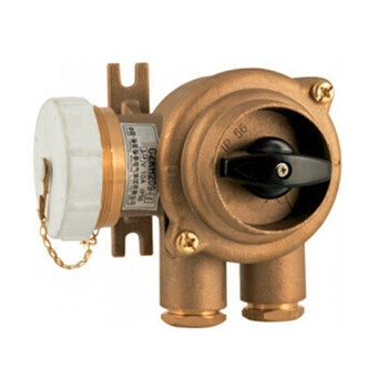 impa 792887 marine brass water tight receptacle with switch industry power adaptor 3 pin electrical plugs and sockets connectors