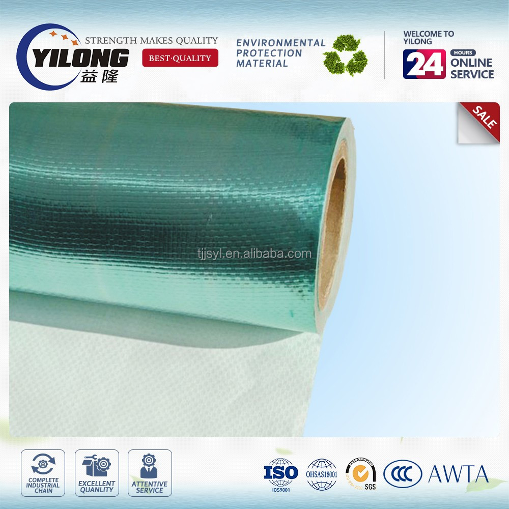 aluminum foil / woven fabric / pe coating for house insulation