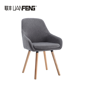 Hot-sale fabric bentwood living room leisure bar dining chair love chair with wood leg lounge armchair