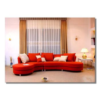 Bright Colored L Shape Sofa Cum Bed